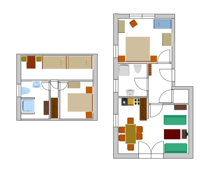 Bad Dusche Vorm Fenster : Schlafzimmer 3 (zwei Einzelbetten)
